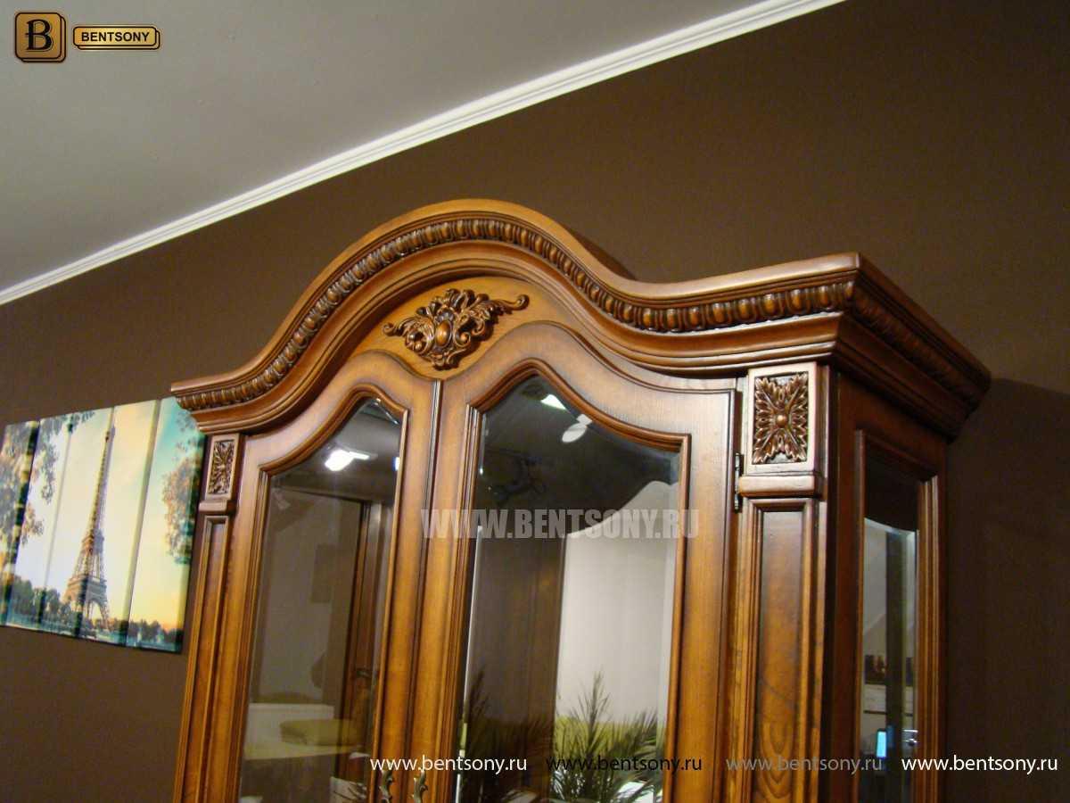 Витрина 2-х дверная Монтана (Классика, массив дерева) каталог мебели