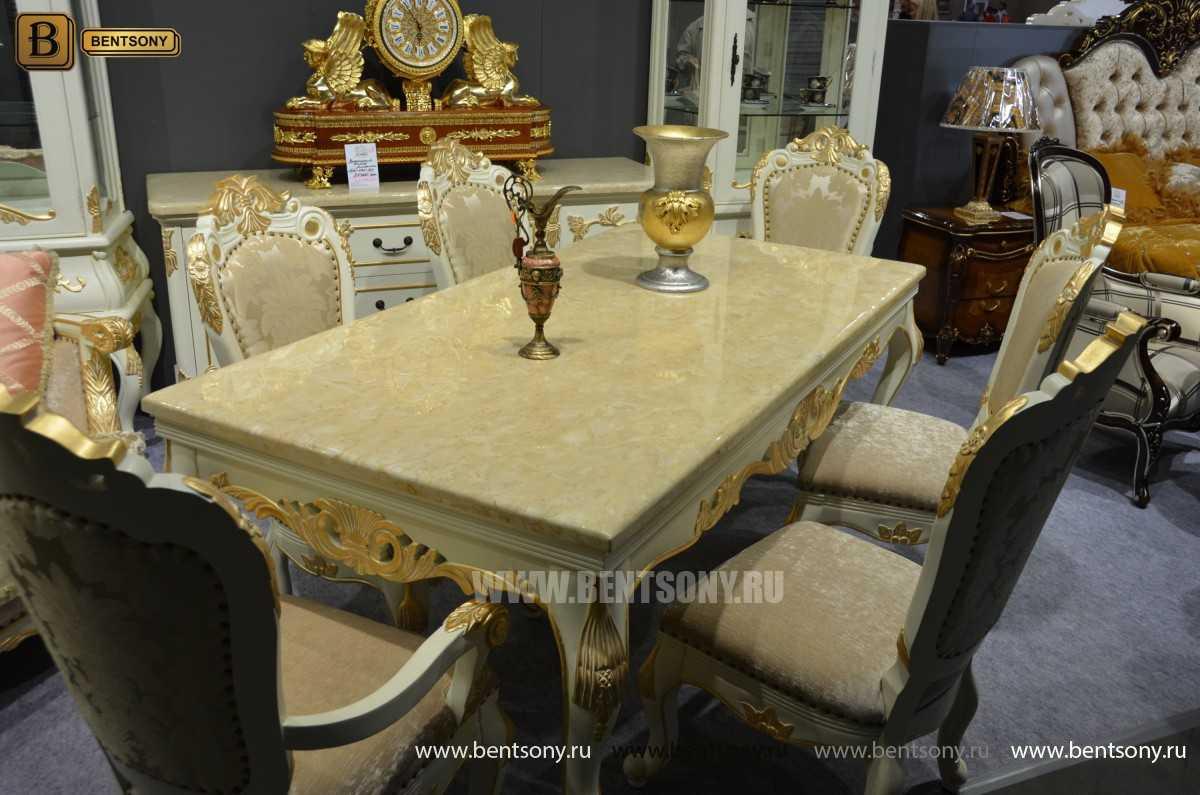 Обеденный стол Амадео 01 (Классика, массив дуба) для дома
