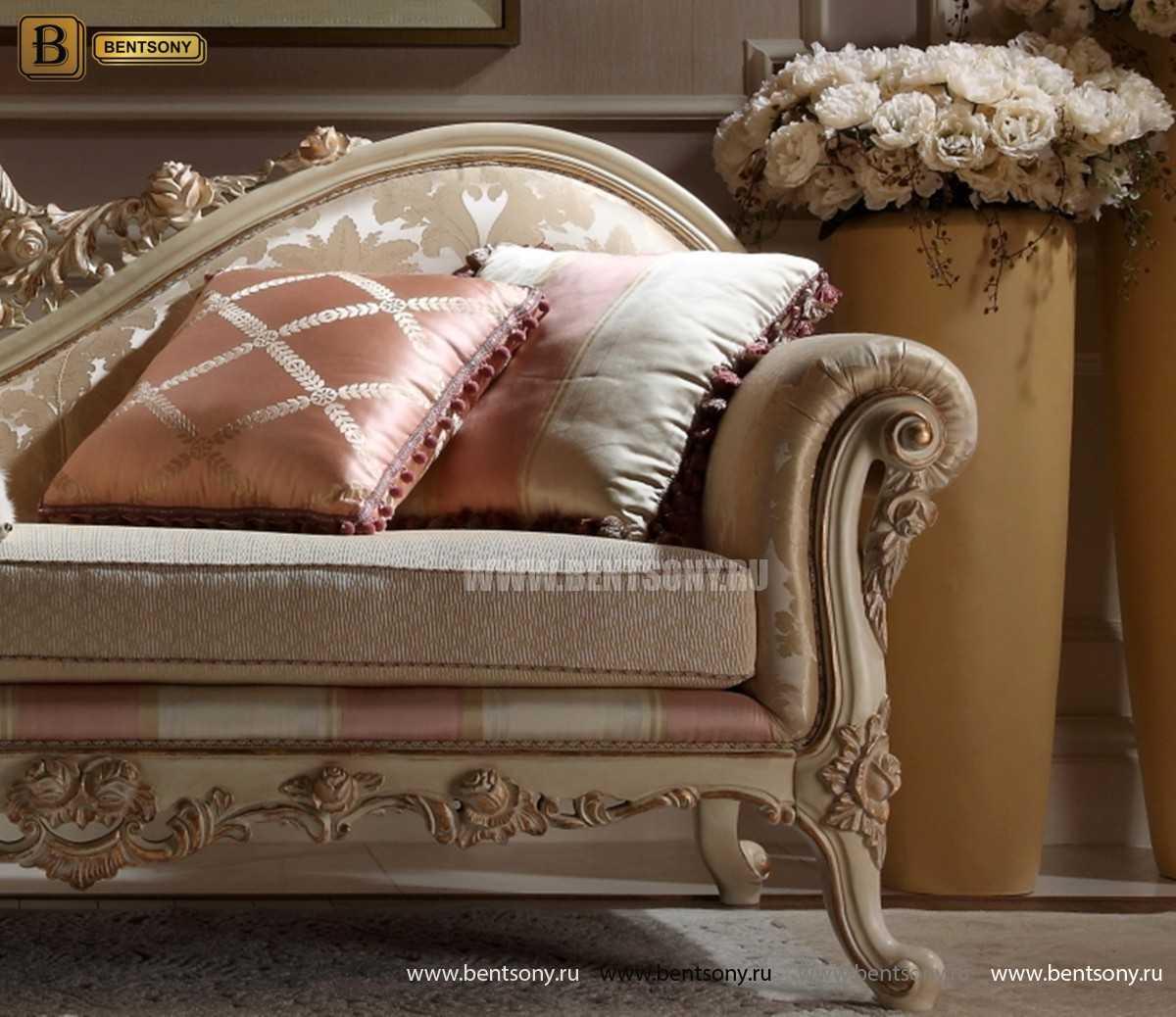 Кушетка Амадео А (Классика, Патина, массив дуба) каталог мебели