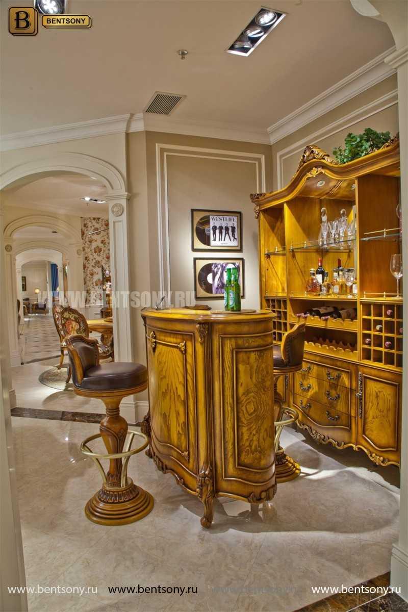 Буфет (Барный шкаф) Дакота (Классика, массив дерева) купить в СПб