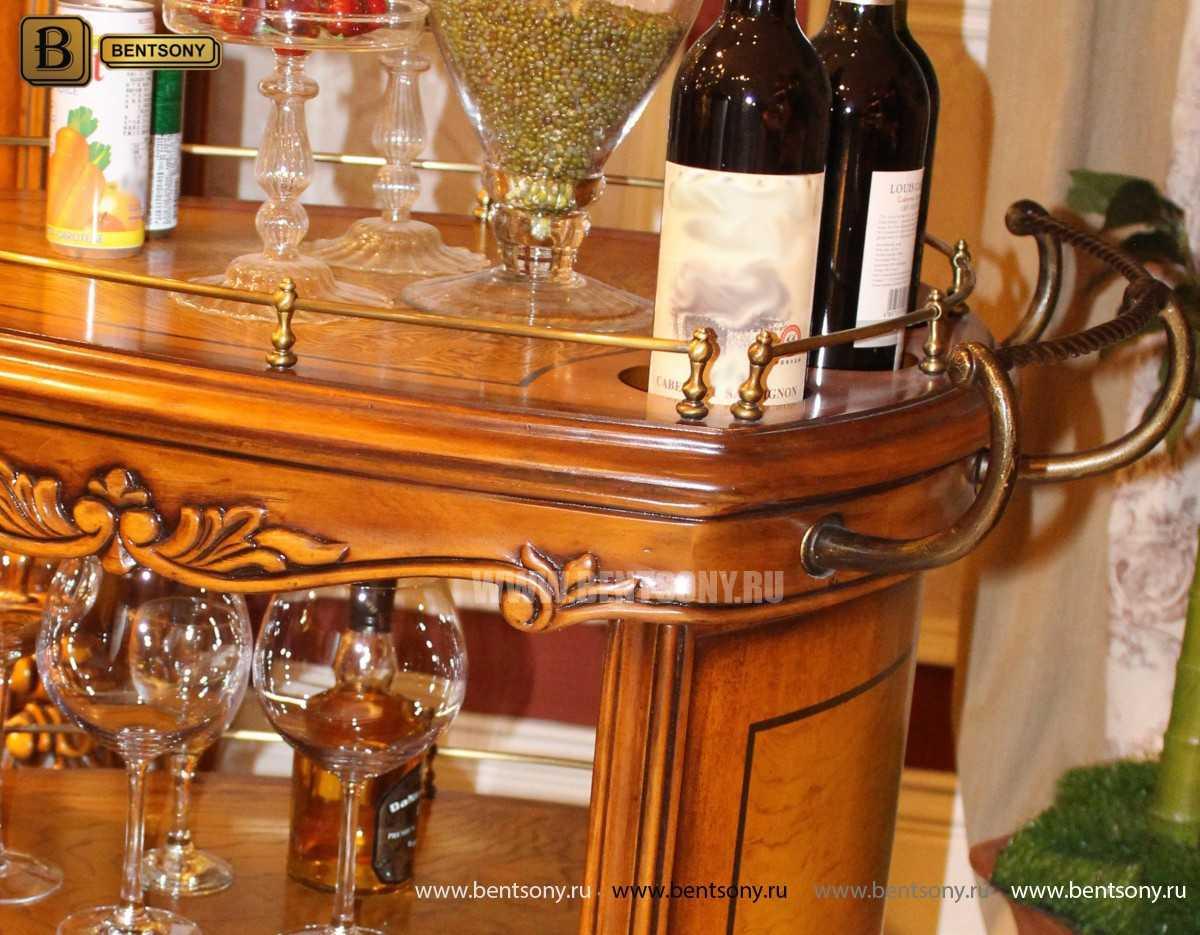 Сервировочный столик Дакота (Классика, массив дерева) для квартиры