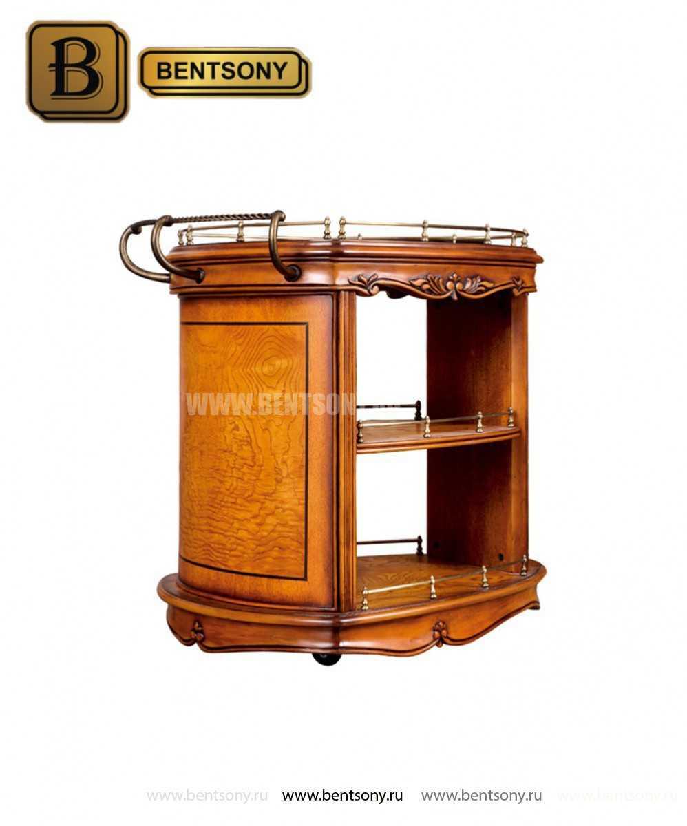 Сервировочный столик Дакота (Классика, массив дерева) фото