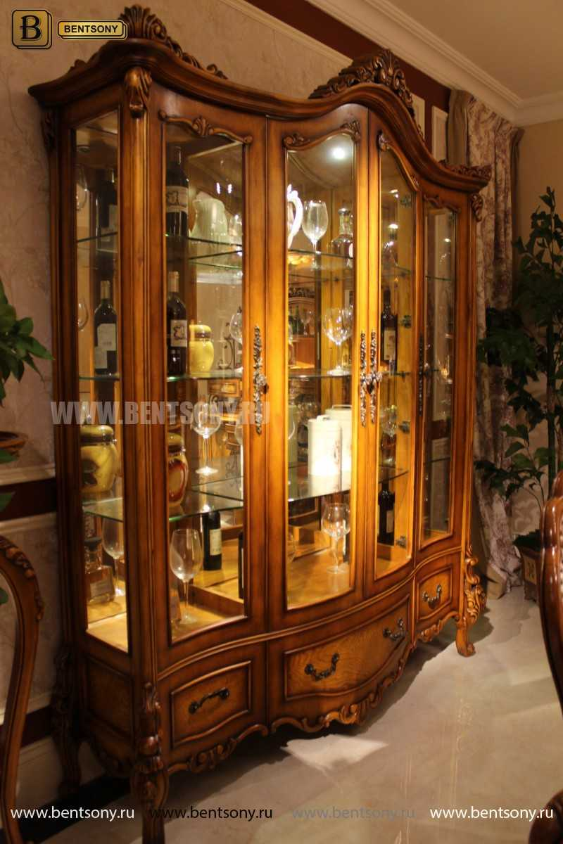 Витрина 4-х дверная Дакота (Массив дерева, классика) официальный сайт цены