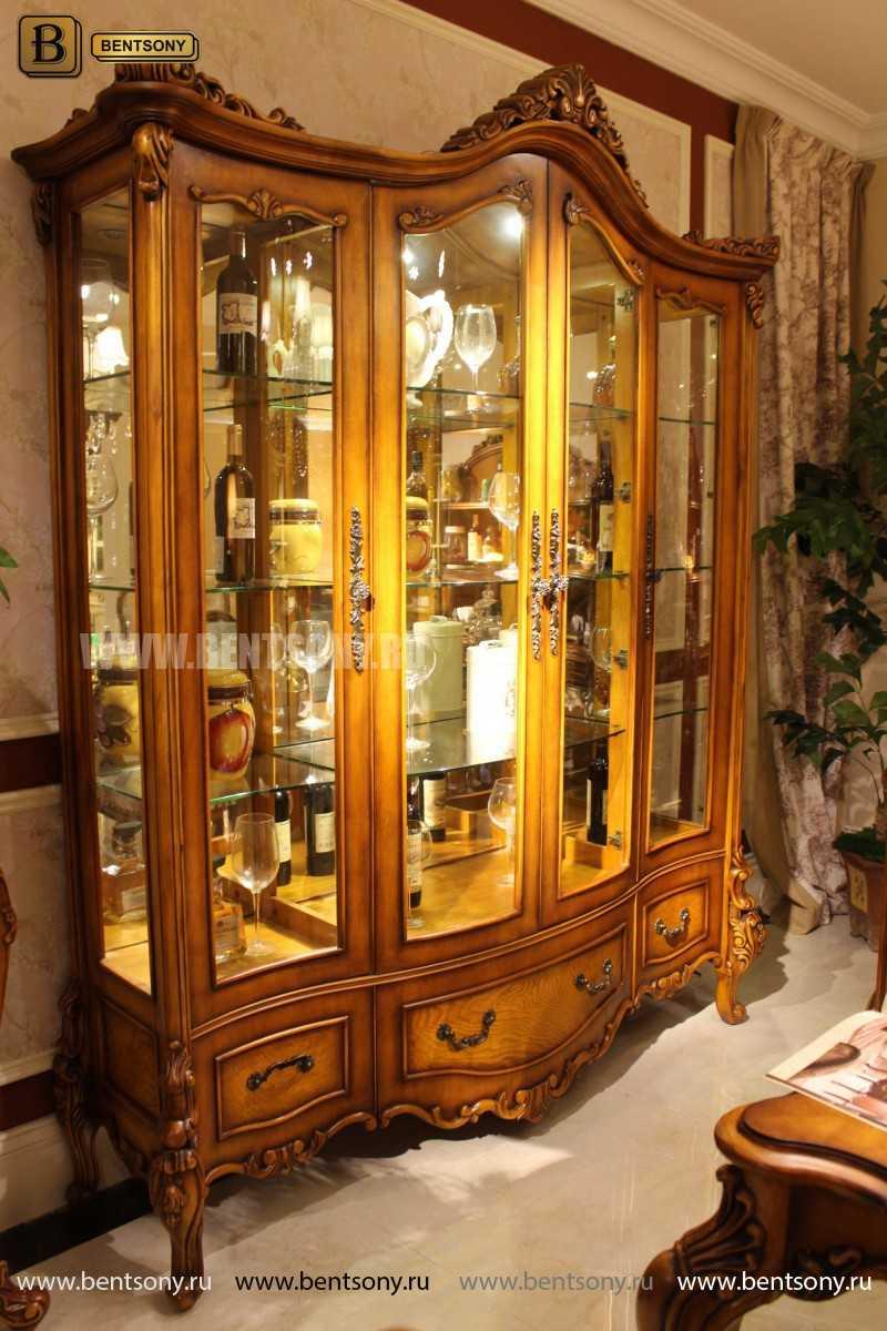 Витрина 4-х дверная Дакота (Массив дерева, классика) цена