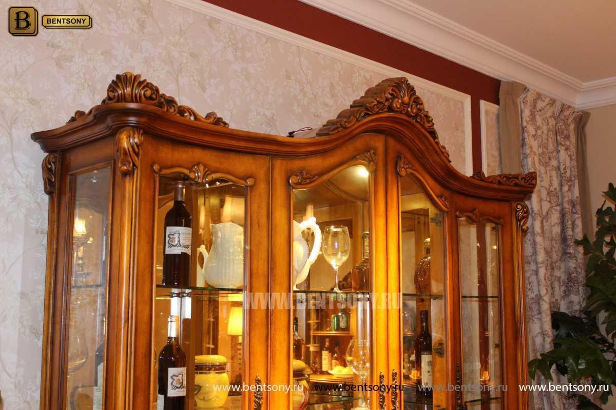 Витрина 4-х дверная Дакота (Массив дерева, классика) купить в Москве