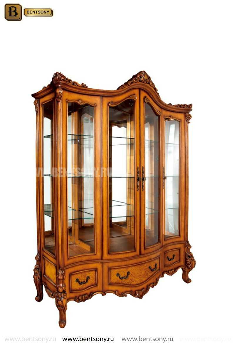 Витрина 4-х дверная Дакота (Массив дерева, классика) каталог с ценами