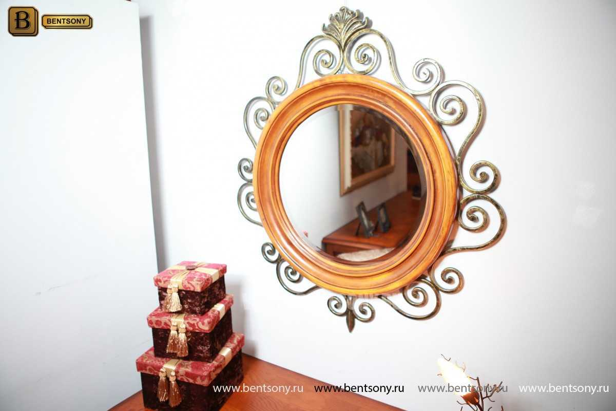 Зеркало на стену Дакота (Классика, дерево, металл) изображение