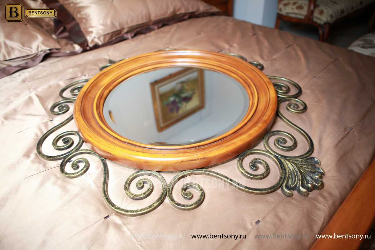 Зеркало на стену Дакота (Классика, дерево, металл) для загородного дома