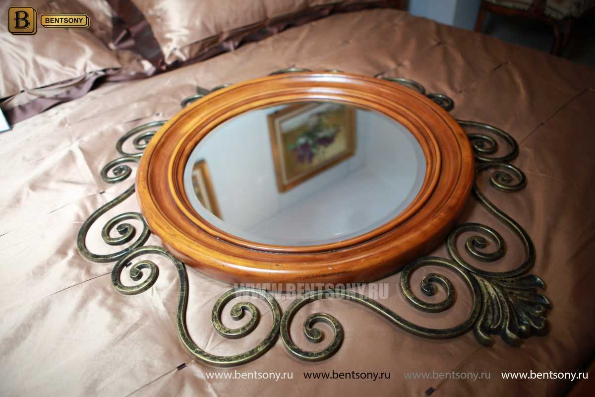 Зеркало на стену Дакота (Классика, дерево, металл) купить в Москве