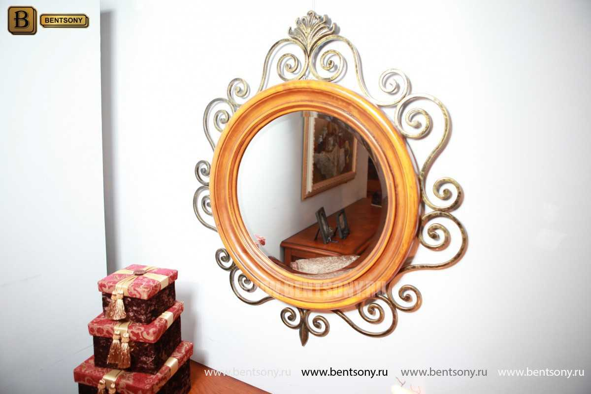 Зеркало на стену Дакота (Классика, дерево, металл) в Москве