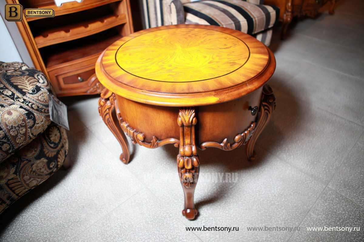 Чайный столик круглый Дакота (Классика, массив дерева) каталог мебели