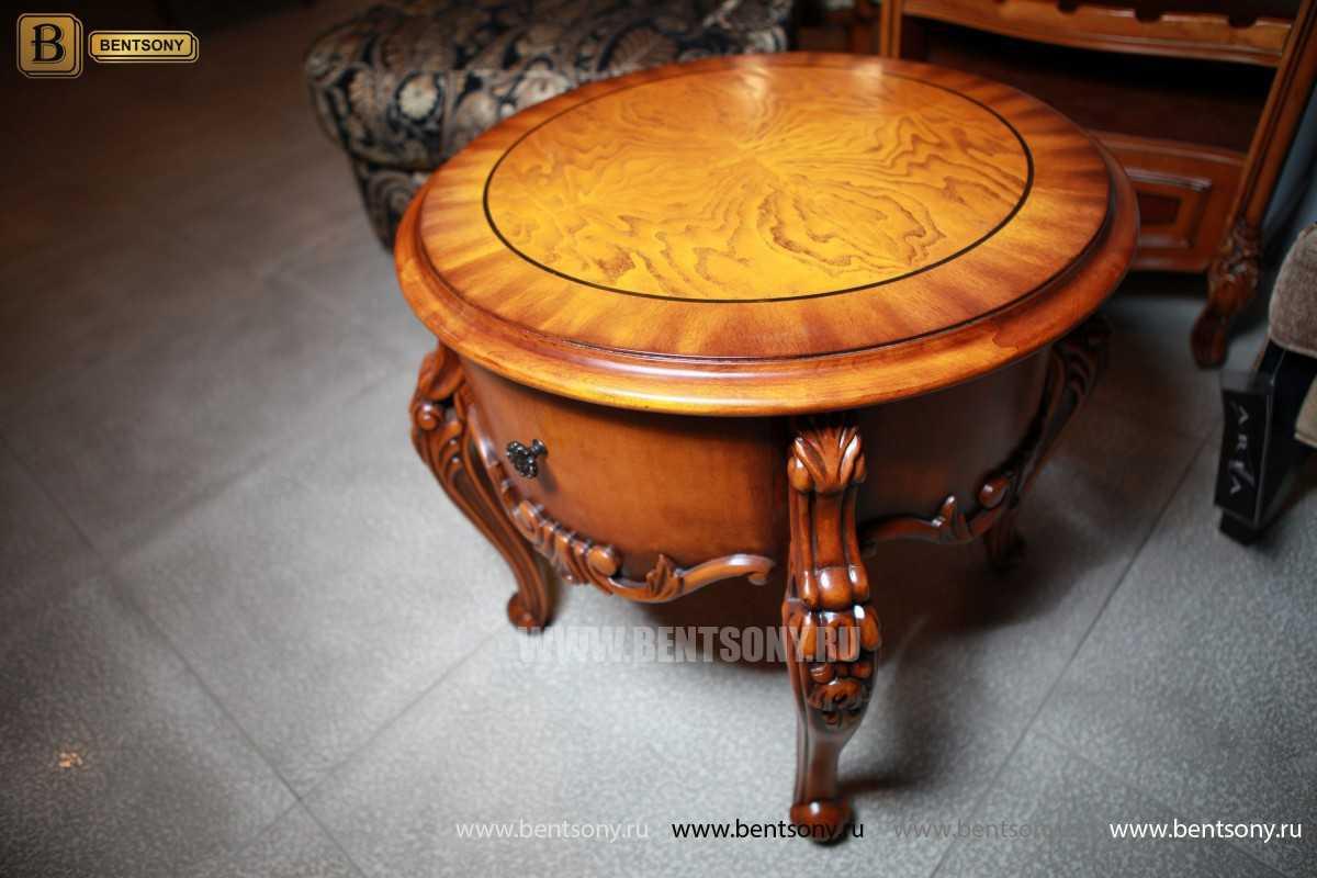 Чайный столик круглый Дакота (Классика, массив дерева) купить
