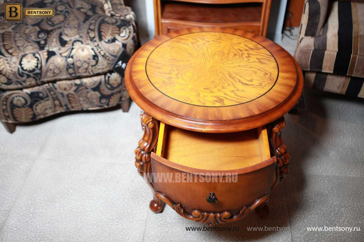 Чайный столик круглый Дакота (Классика, массив дерева) для квартиры