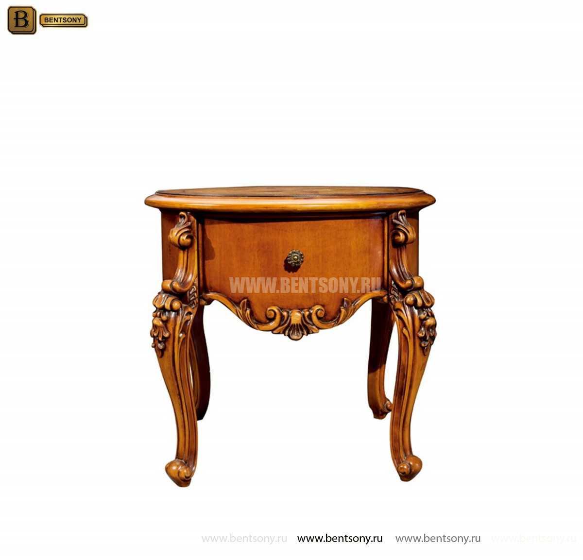 Чайный столик круглый Дакота (Классика, массив дерева) распродажа