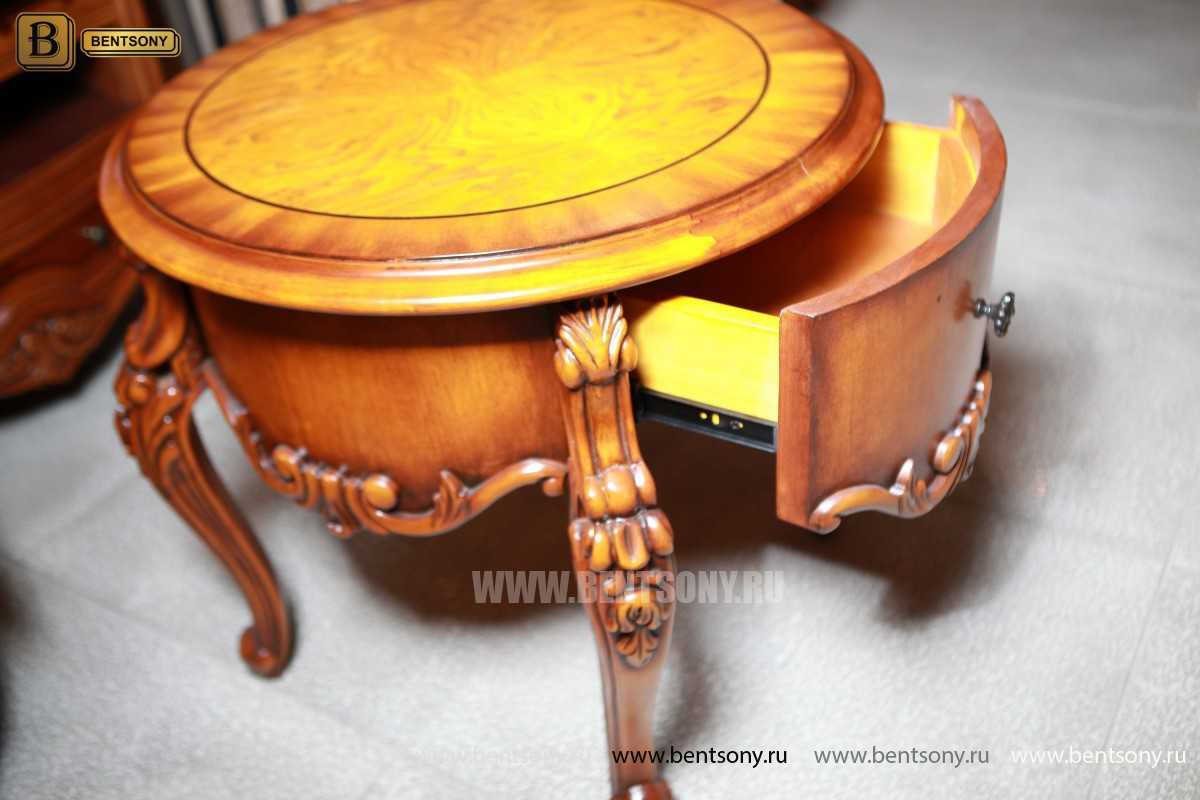 Чайный столик круглый Дакота (Классика, массив дерева) цена