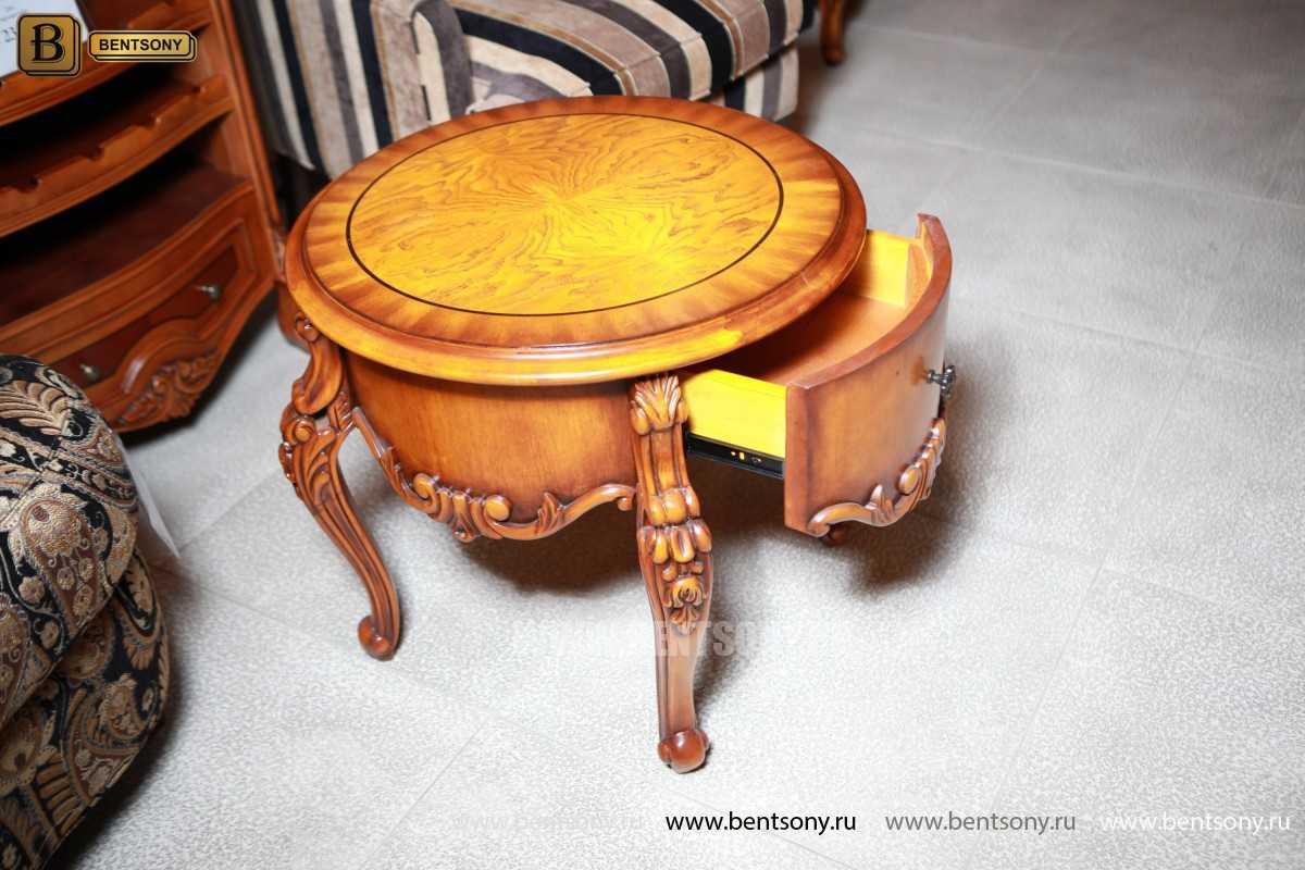 Чайный столик круглый Дакота (Классика, массив дерева) купить в СПб