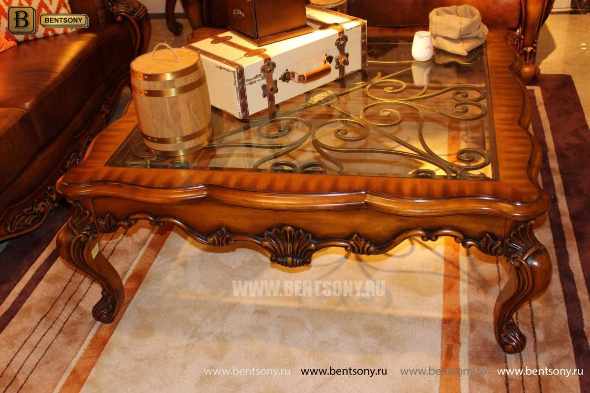 Стол Журнальный Квадратный Дакота А (Массив дерева, стекло) купить в СПб