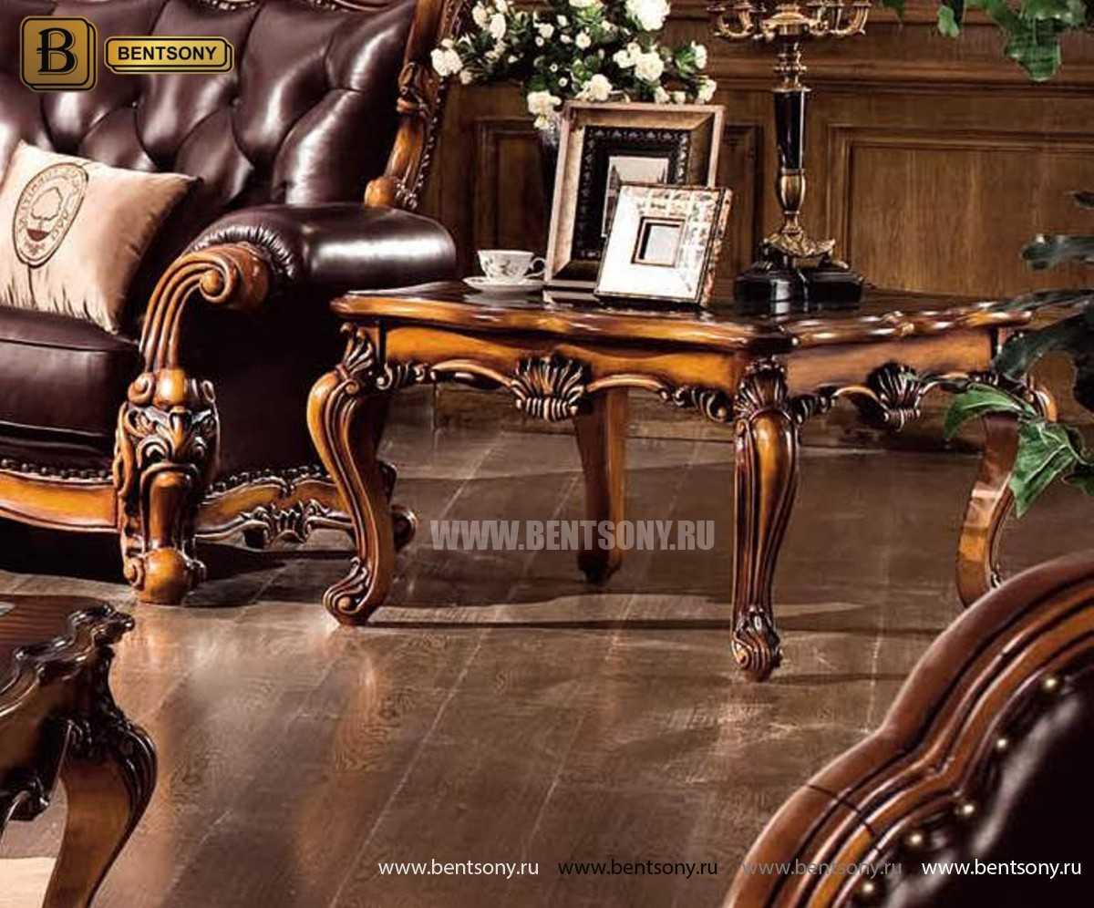 Стол Журнальный Чайный Дакота А (Массив дерева, стекло) каталог