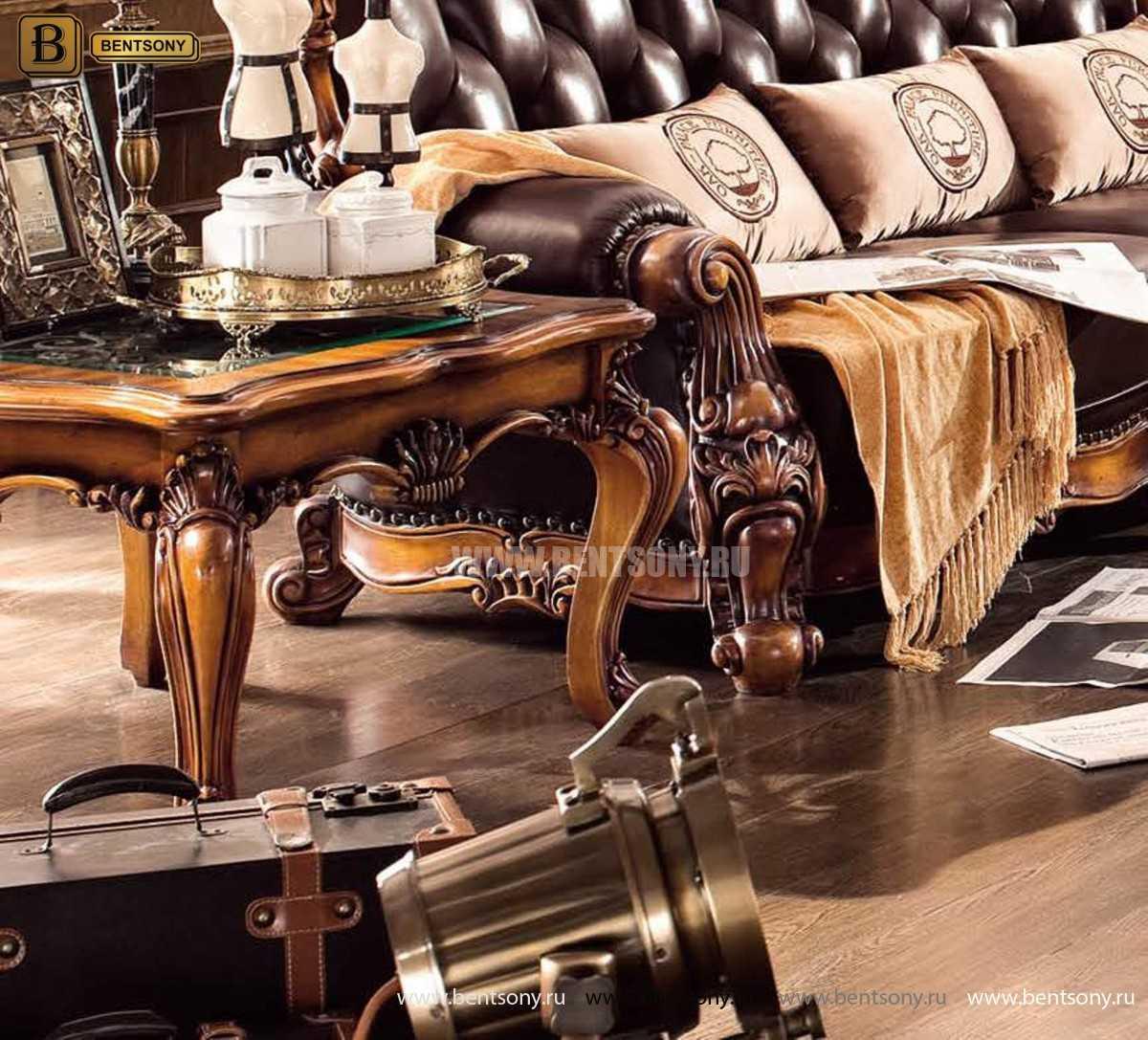 Стол Журнальный Чайный Дакота А (Массив дерева, стекло) изображение