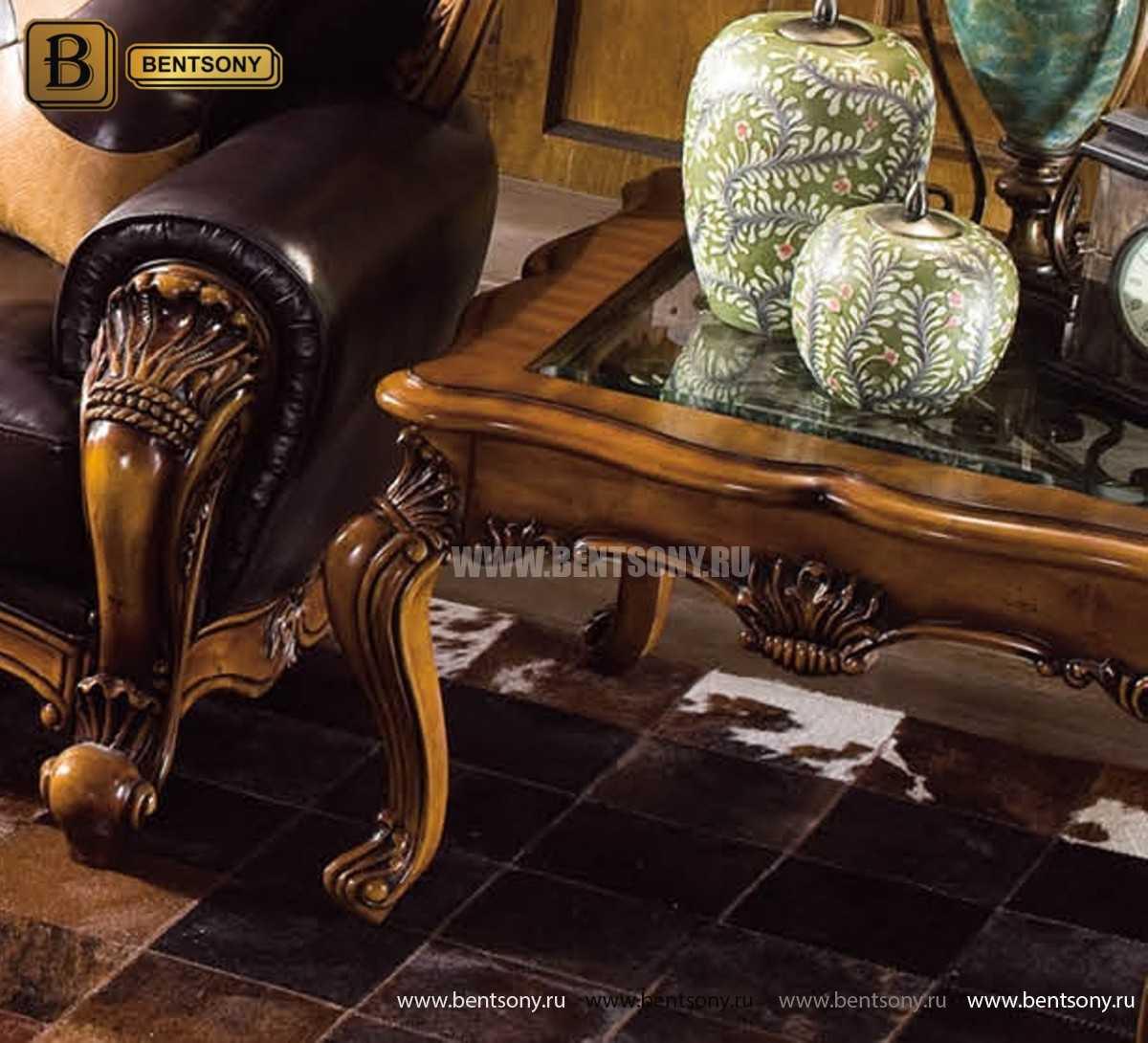 Стол Журнальный Чайный Дакота А (Массив дерева, стекло) магазин Москва