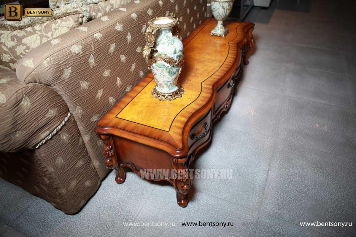 ТВ Тумба Дакота А (Классика, массив дерева) каталог мебели с ценами