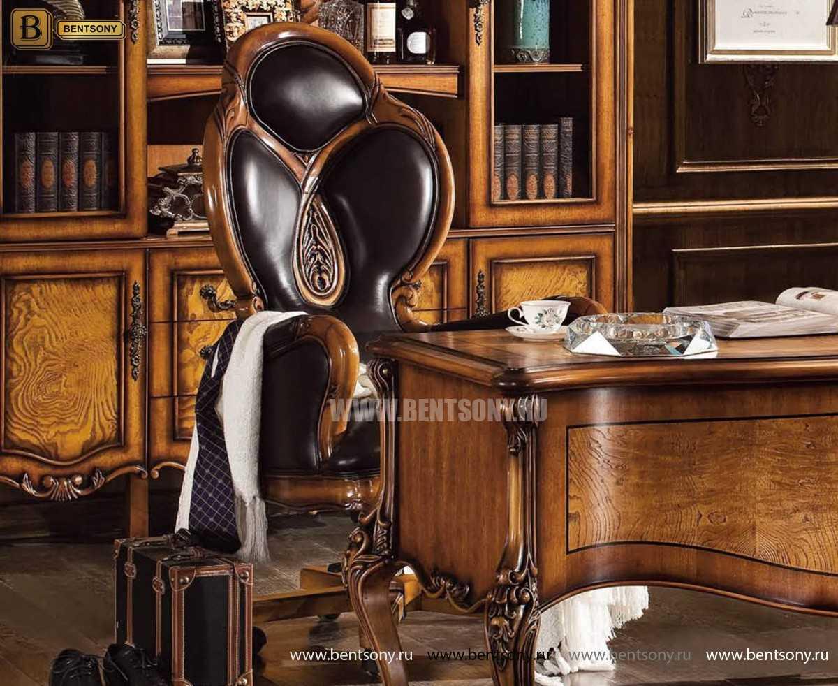 Кресло Кабинетное Дакота А (Классика, натуральная кожа) в Москве
