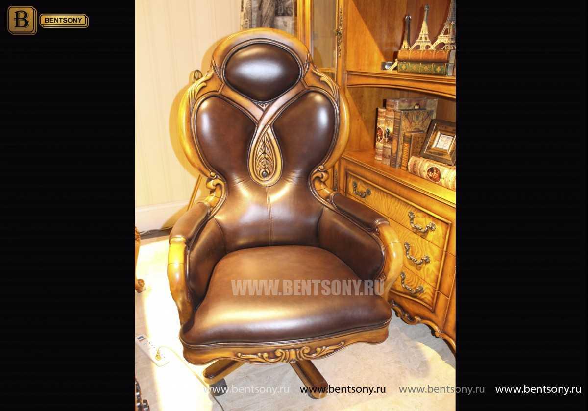 Кресло Кабинетное Дакота А (Классика, натуральная кожа) каталог с ценами