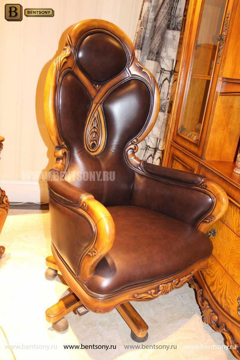 Кресло Кабинетное Дакота А (Классика, натуральная кожа) каталог мебели