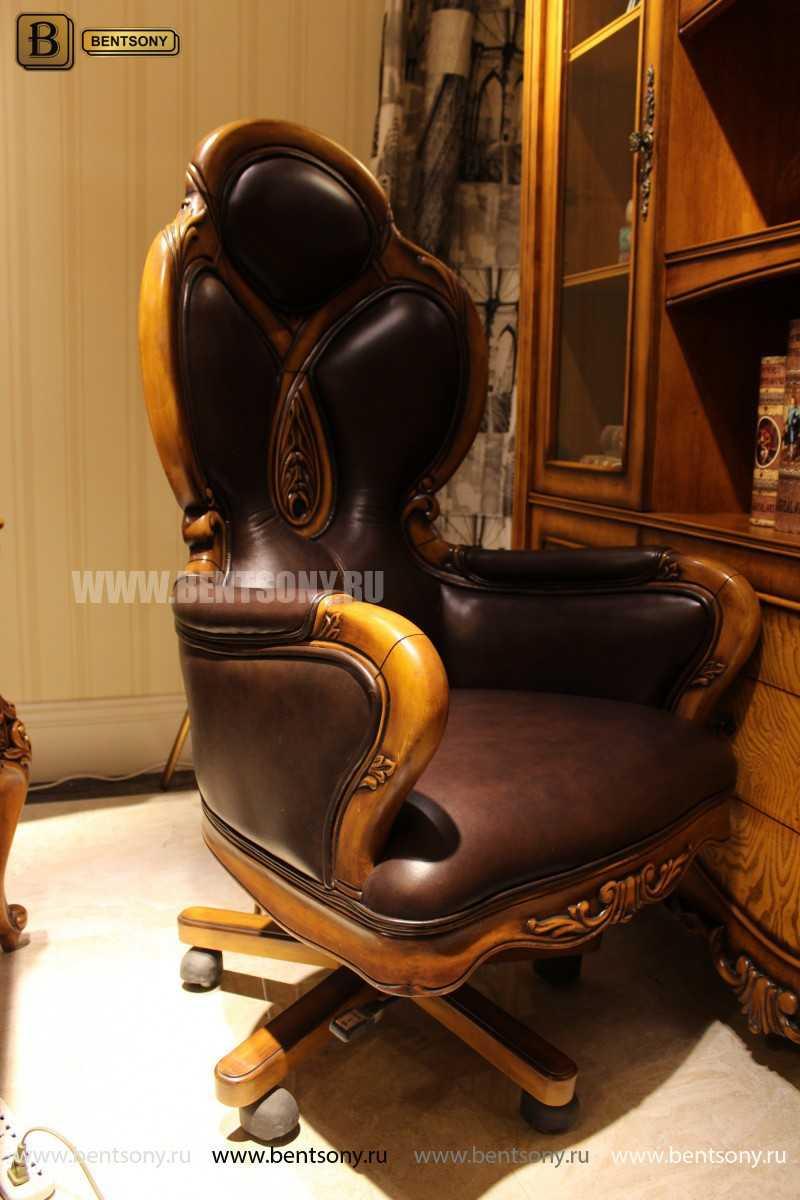 Кресло Кабинетное Дакота А (Классика, натуральная кожа) магазин Москва