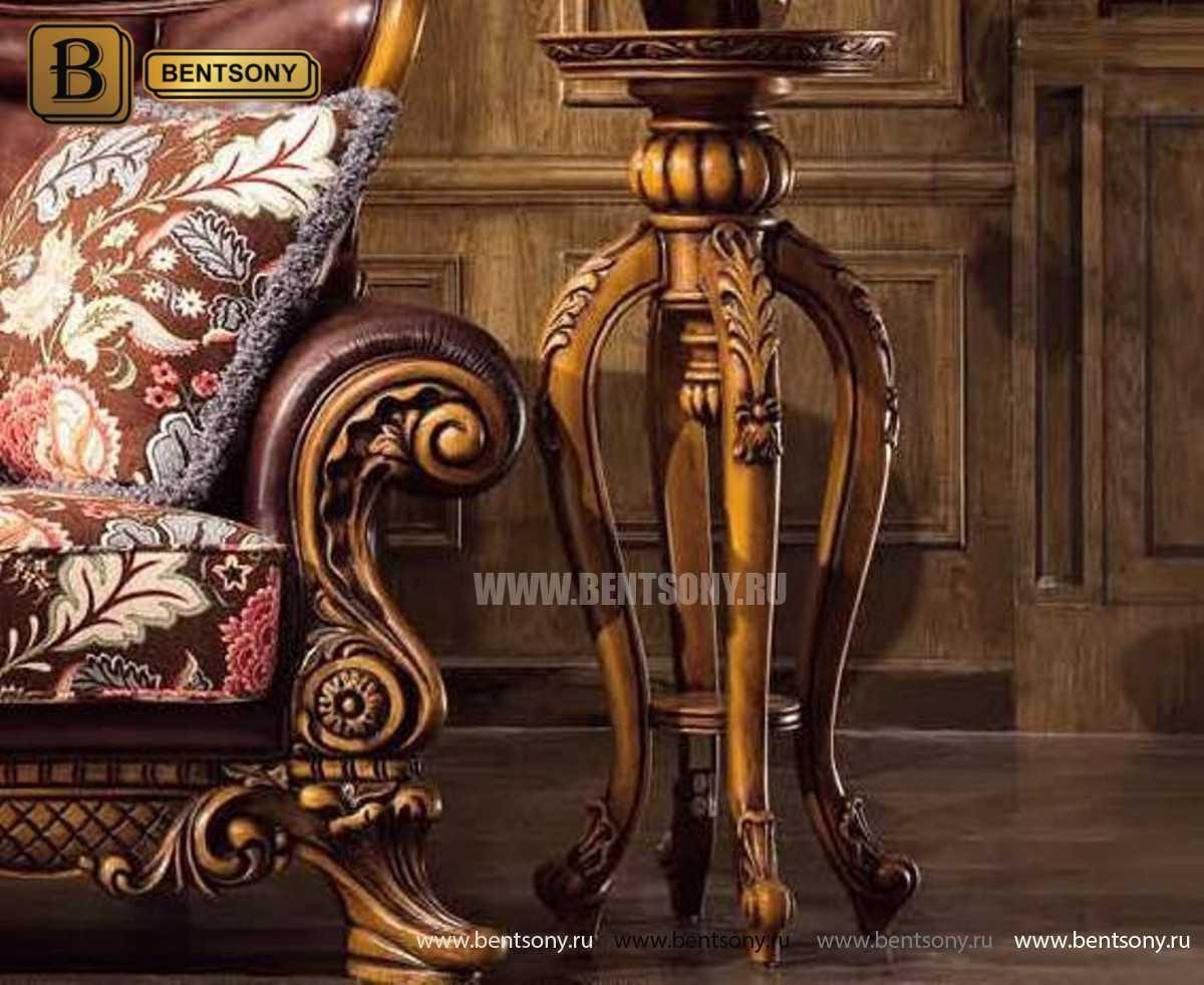 Гостиная Дакота E (Классика, Натуральная кожа, ткань) для квартиры