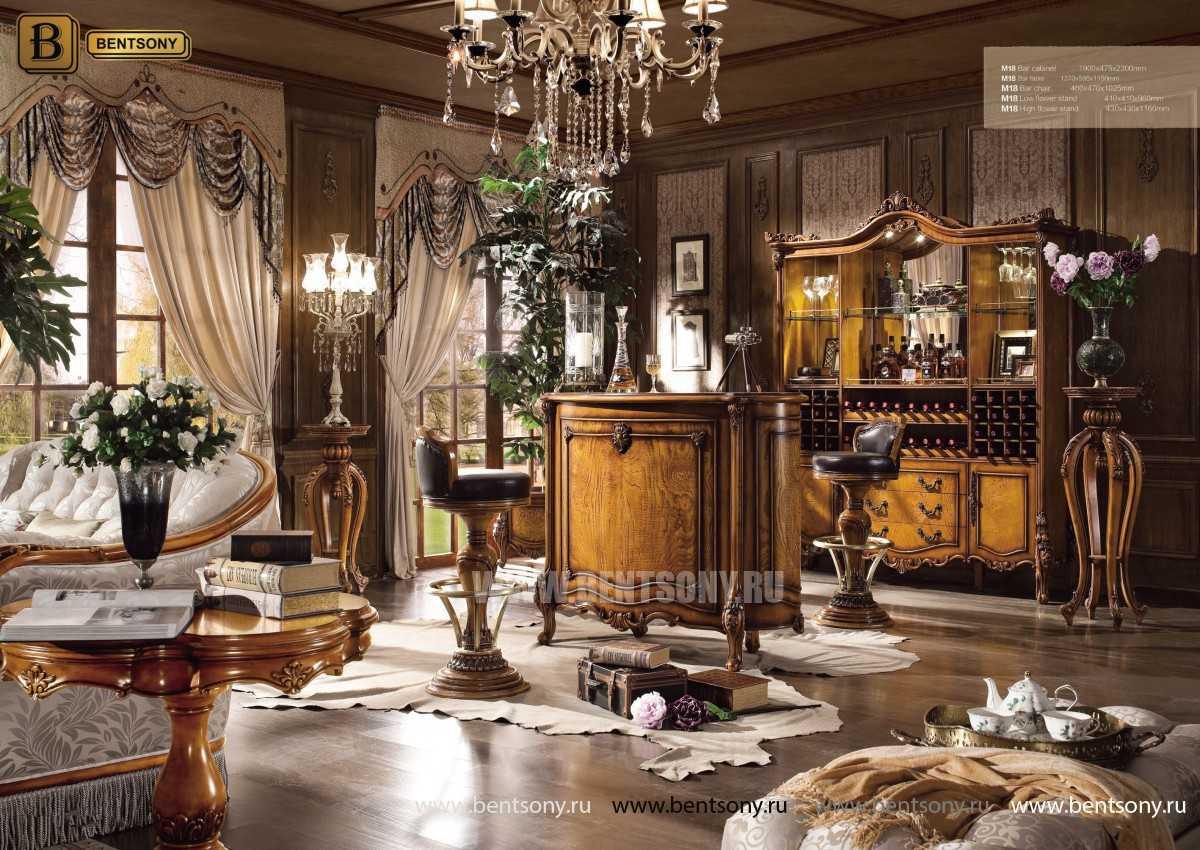Гостиная Дакота E (Классика, Натуральная кожа, ткань) в СПб