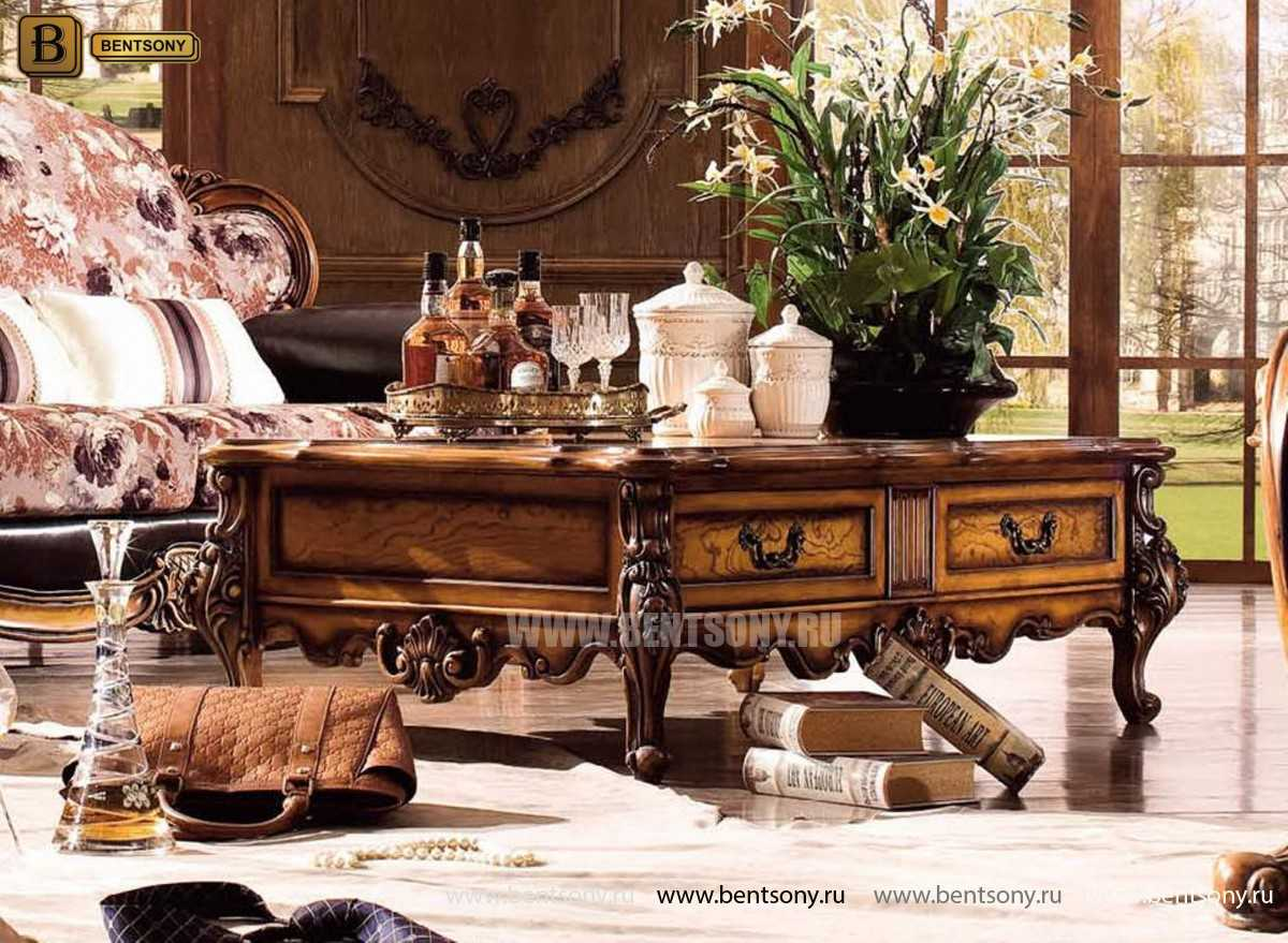 Гостиная Дакота E (Классика, Натуральная кожа, ткань) фото