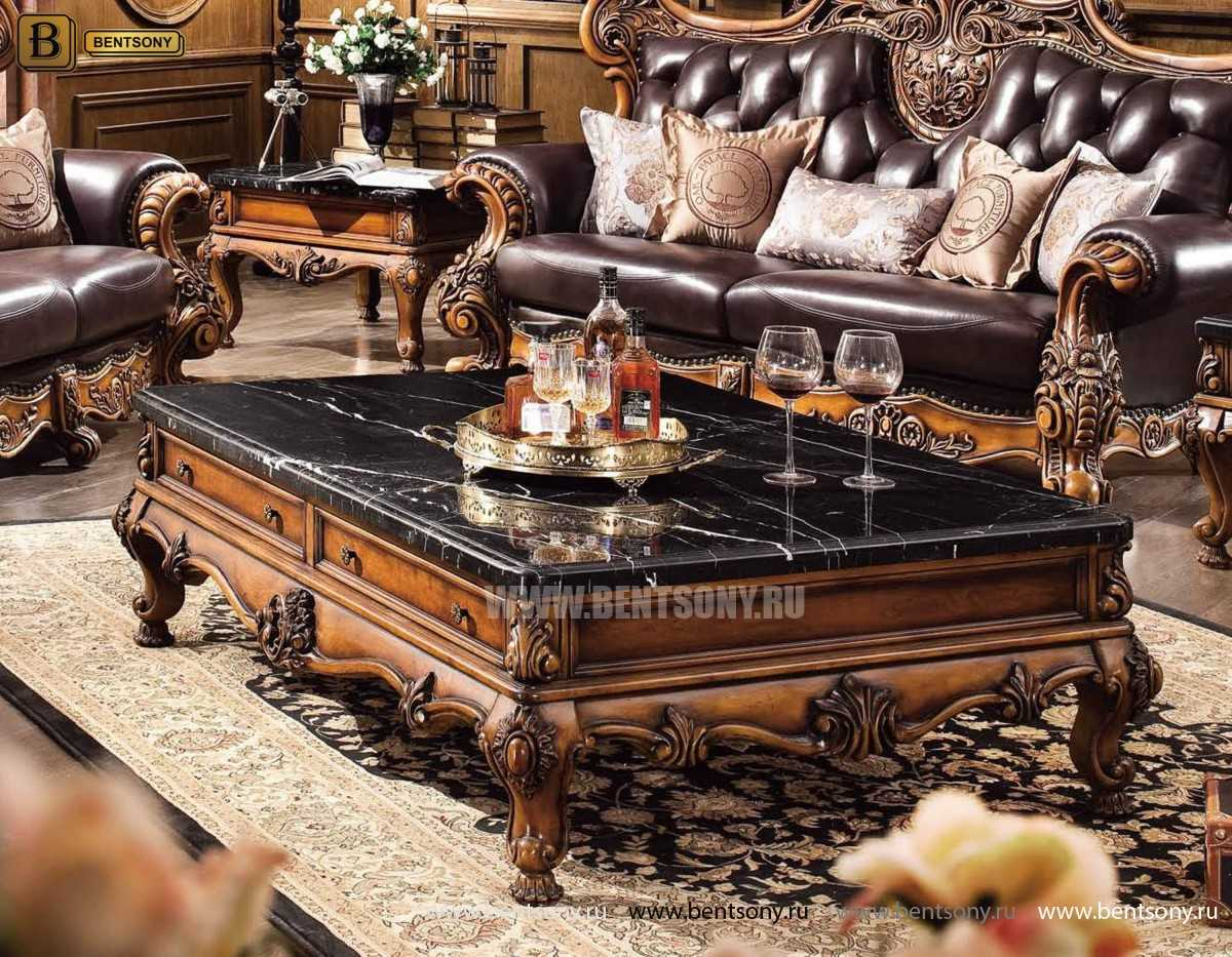 Гостиная Дакота E (Классика, Натуральная кожа, ткань) каталог мебели