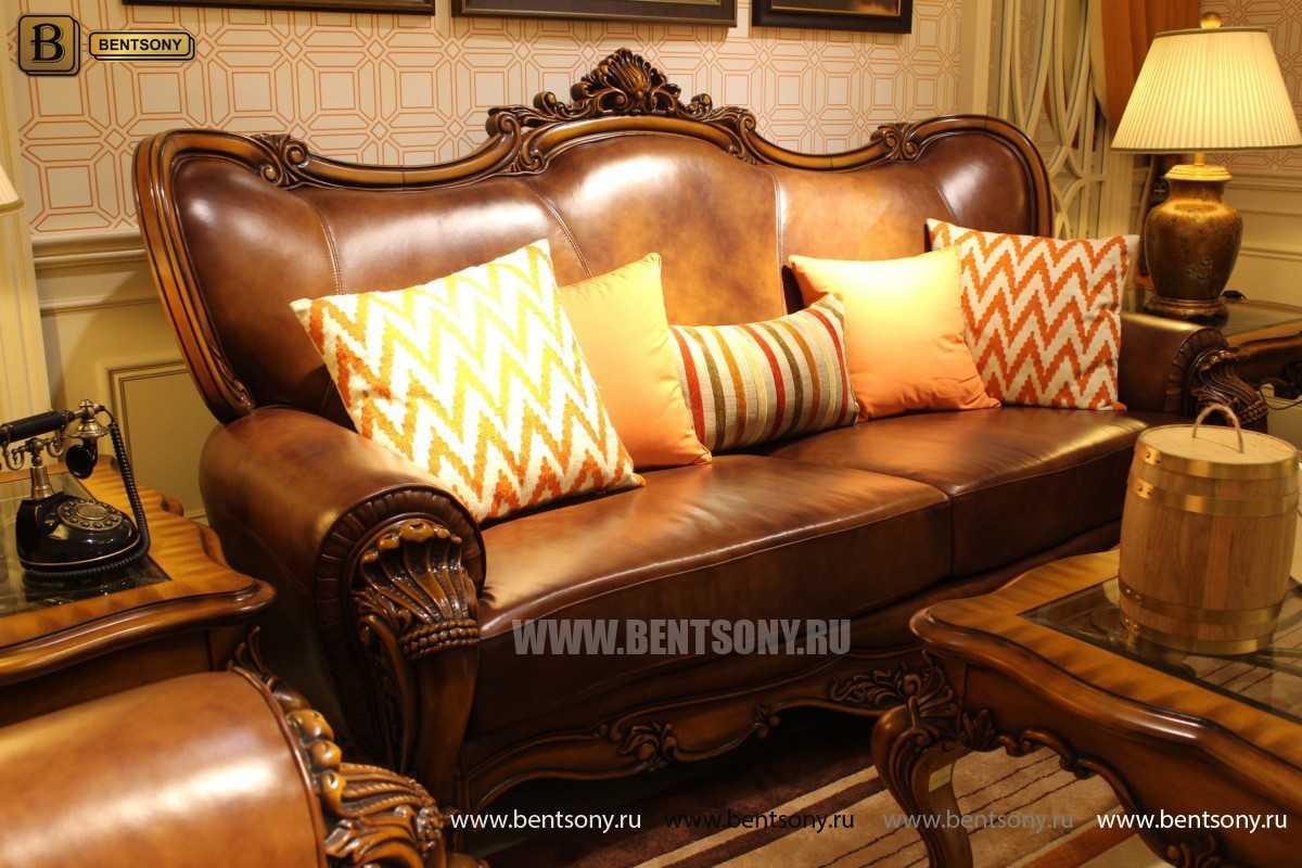 Диван Дакота А (Классика, Натуральная Кожа) каталог мебели с ценами