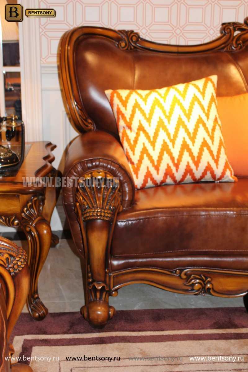 Диван Двойной Дакота А (Кушетка) (Натуральная Кожа) каталог мебели с ценами