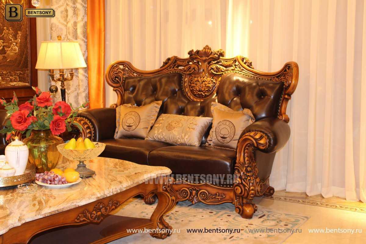Диван Дакота G (Классика, Натуральная Кожа) каталог мебели с ценами