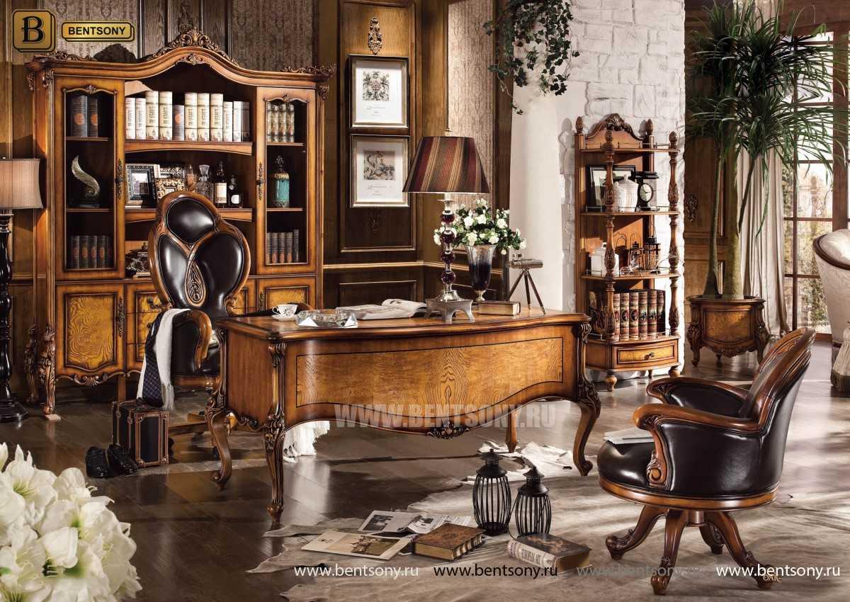 Письменный стол Дакота А (Массив дерева, резные ножки) сайт цены