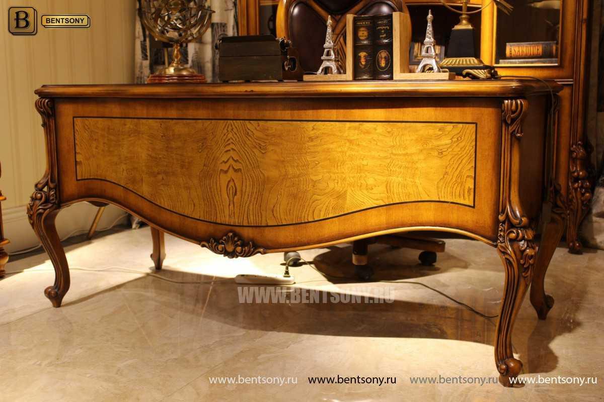 Письменный стол Дакота А (Массив дерева, резные ножки) для дома