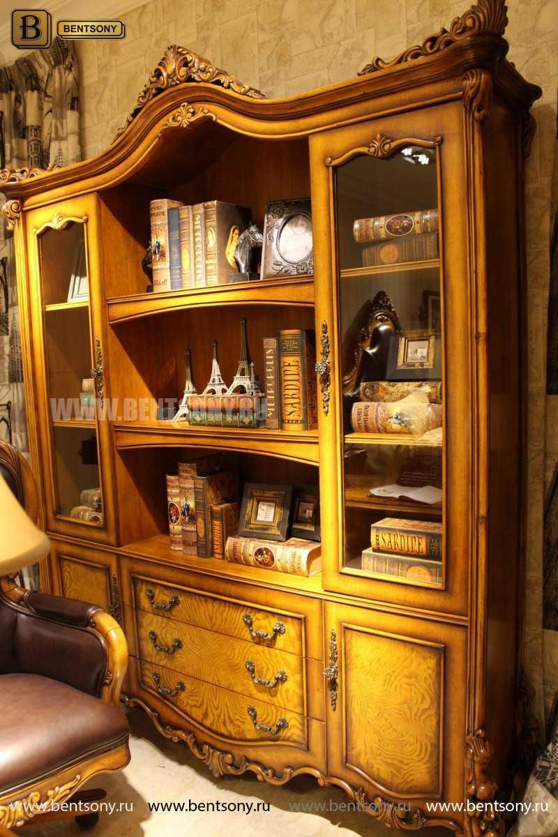 Шкаф Книжный Дакота (Классика, массив дерева) для дома