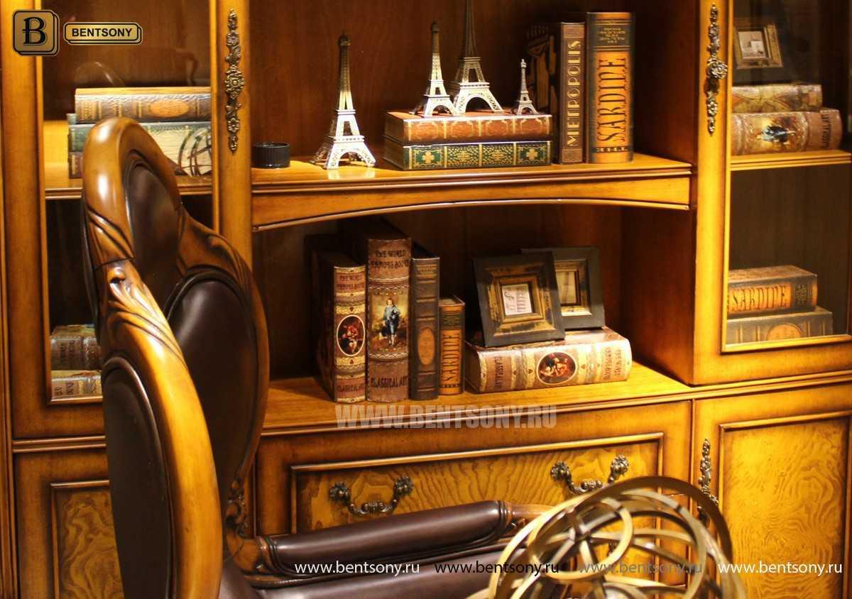 Шкаф Книжный Дакота (Классика, массив дерева) цена