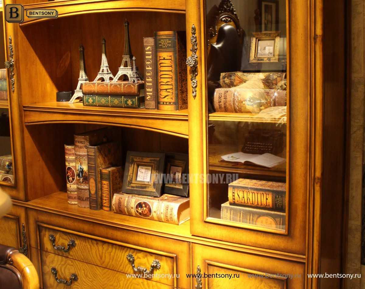 Шкаф Книжный Дакота (Классика, массив дерева) каталог мебели