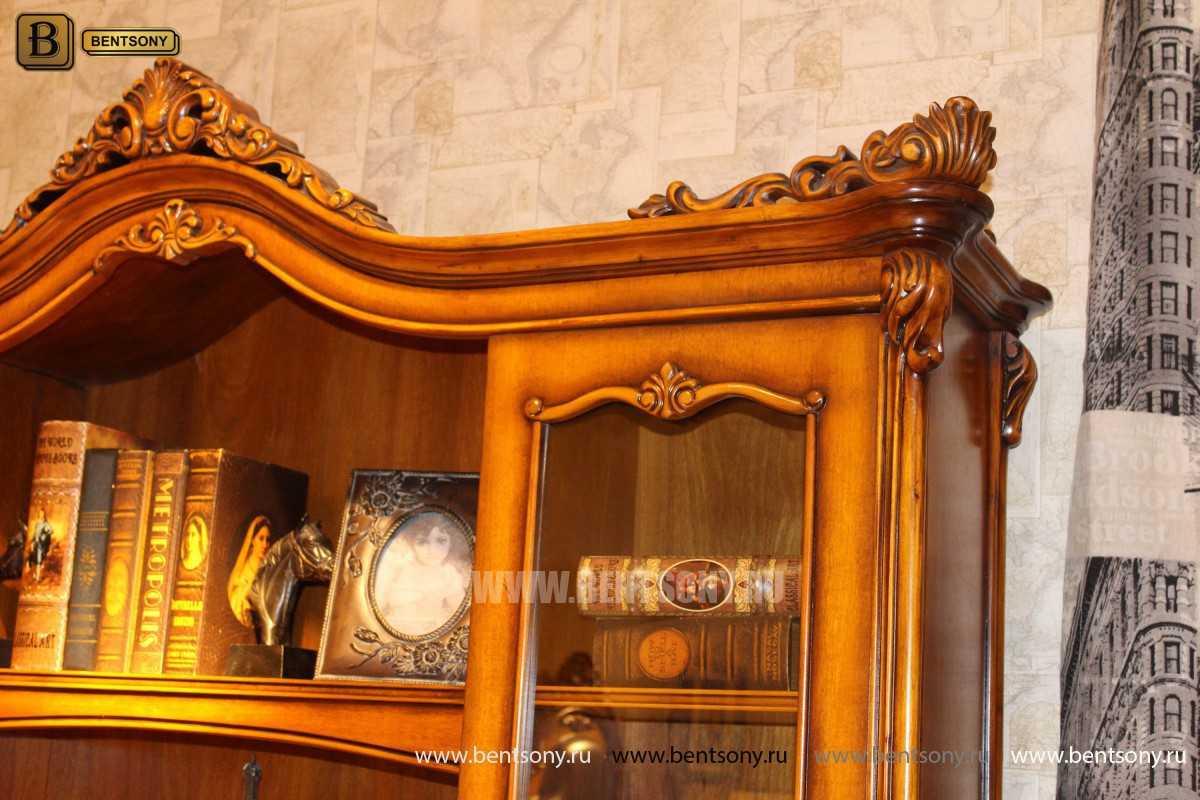 Шкаф Книжный Дакота (Классика, массив дерева) в интерьере