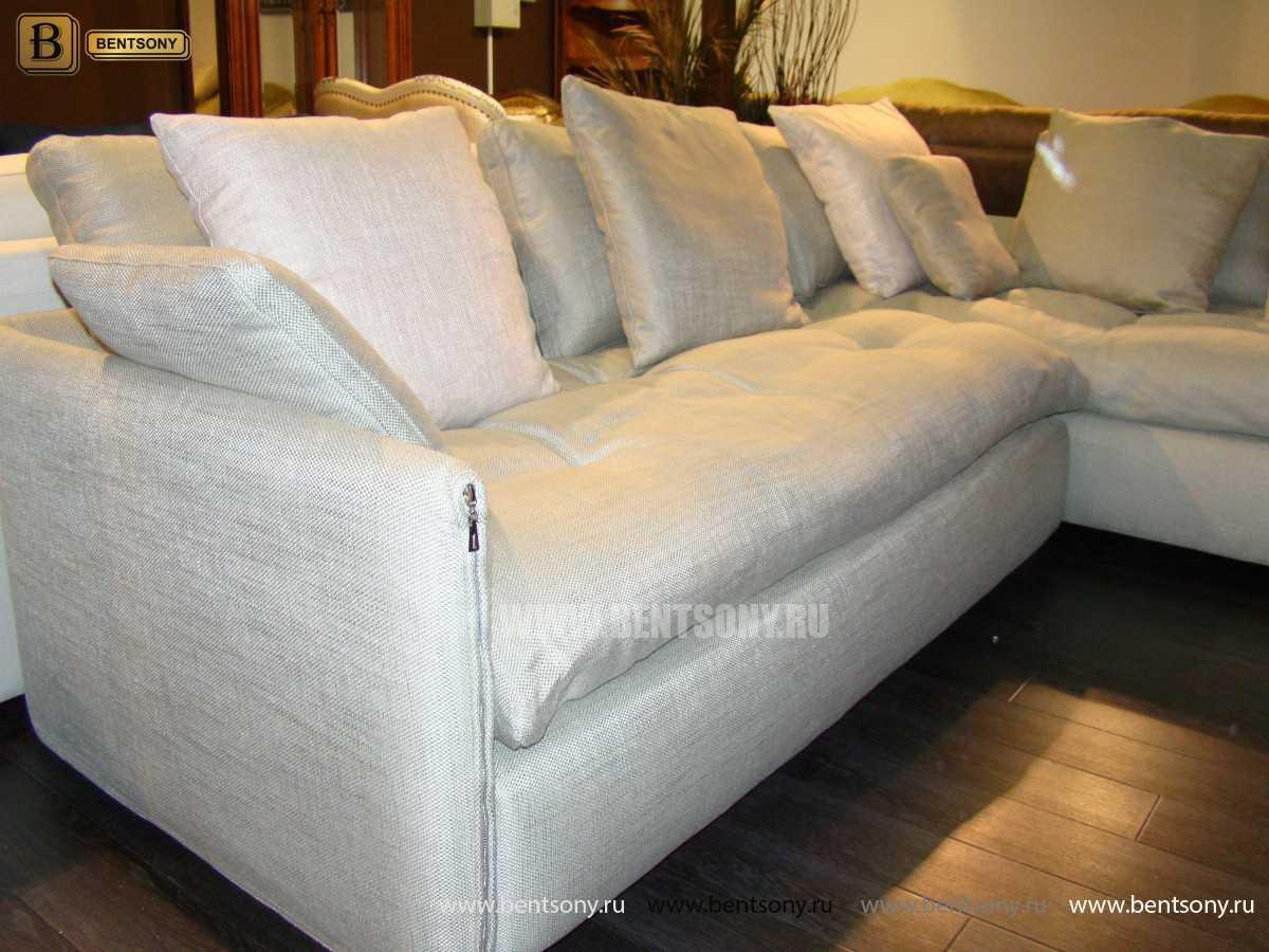 угловой диван для гостинной светлый Арлетто