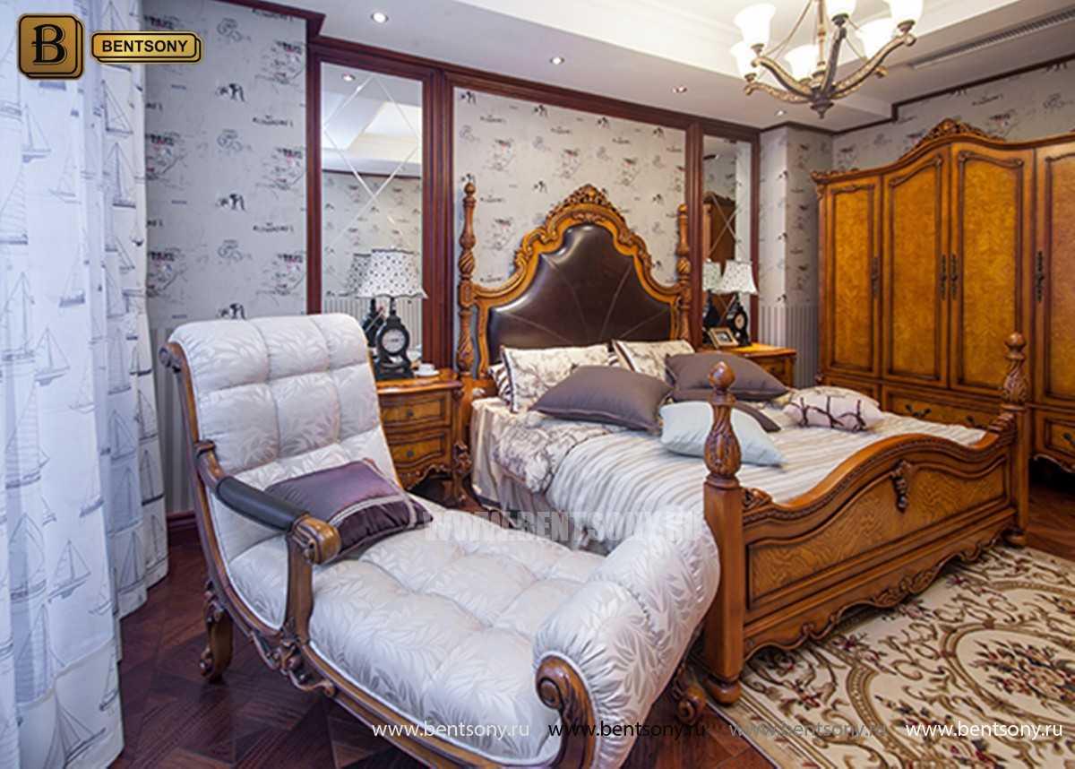 Кровать Дакота А (Классика, Натуральная Кожа) каталог мебели с ценами