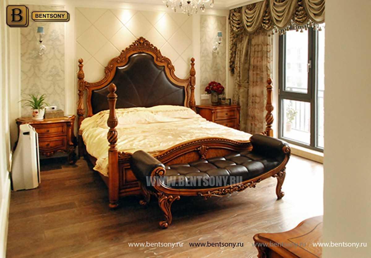 Кровать Дакота А (Классика, Натуральная Кожа) для дома