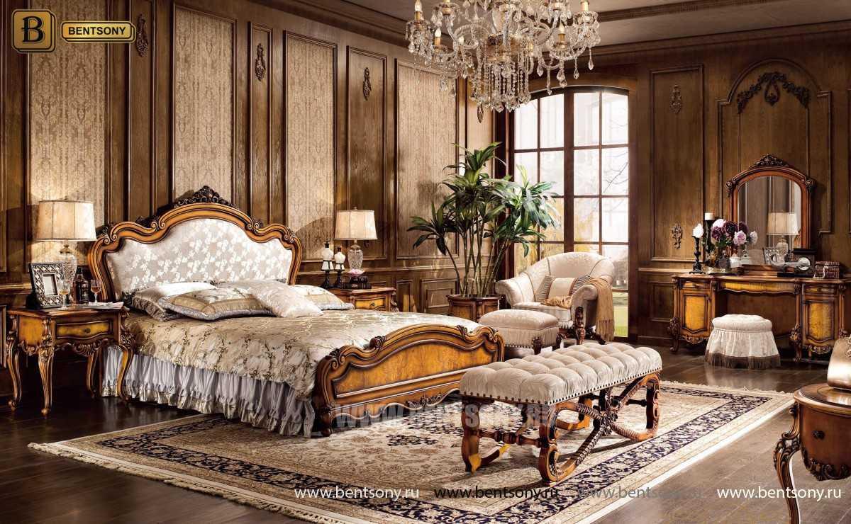 Кровать Дакота C (Классика, ткань, массив дерева) цена