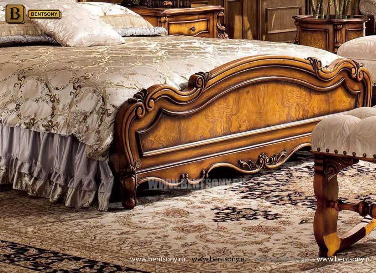 Кровать Дакота C (Классика, ткань, массив дерева) купить в Москве