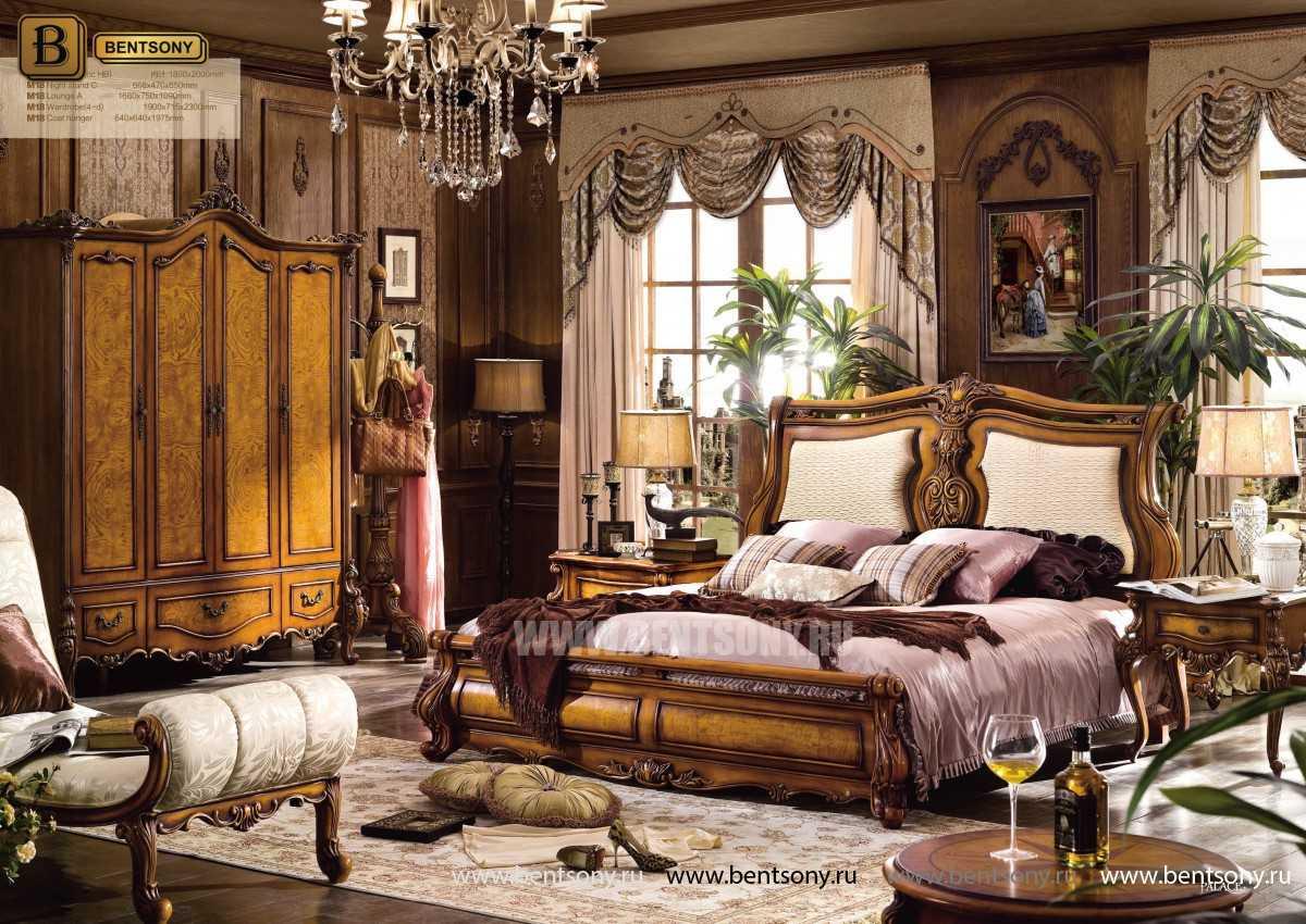 Кровать Дакота D (Классика, массив дерева, ткань) распродажа