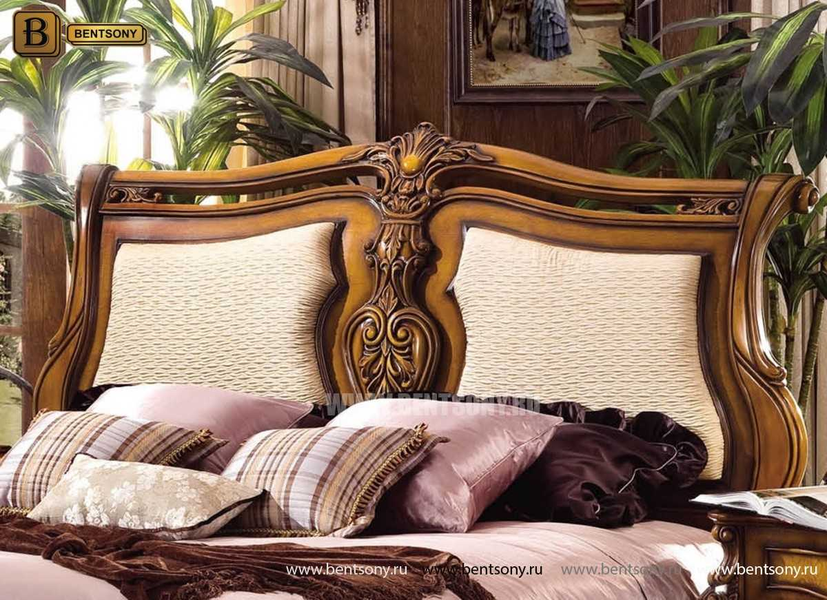 Кровать Дакота D (Классика, массив дерева, ткань) для квартиры