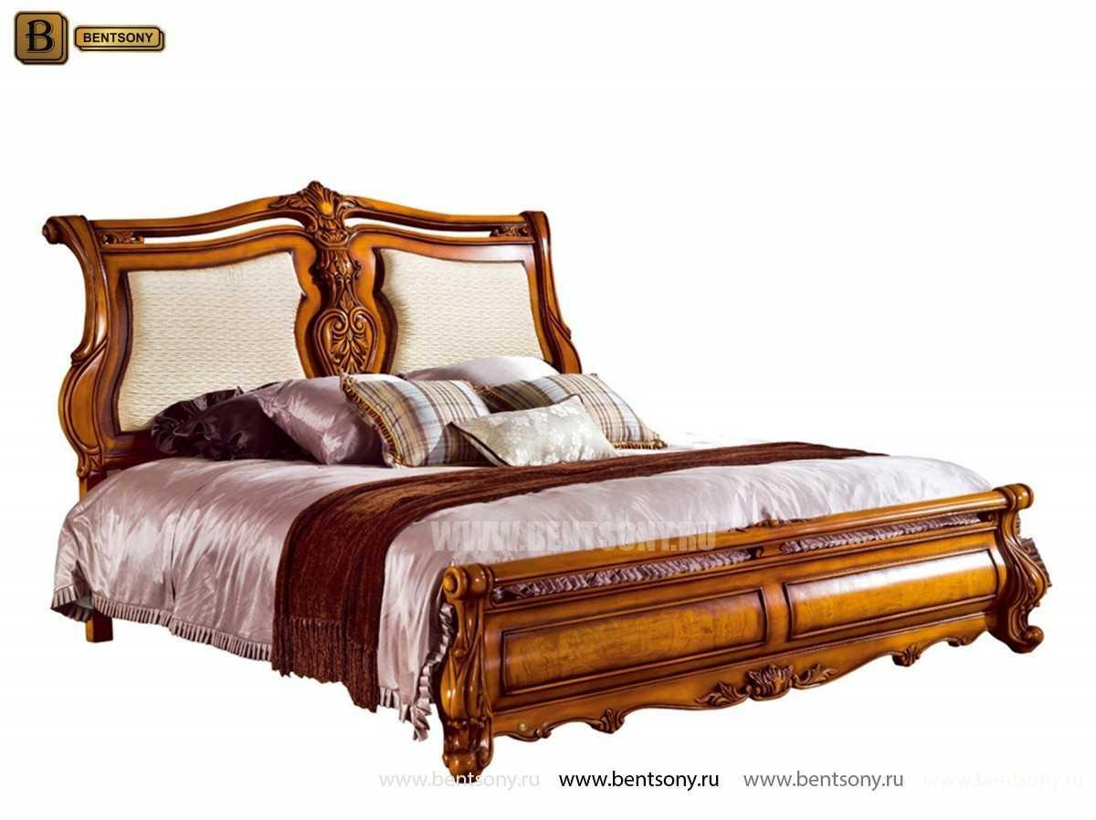 Кровать Дакота D (Классика, массив дерева, ткань) для загородного дома